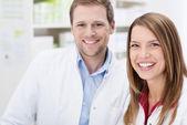 Teamwork at the pharmacy — Stock Photo