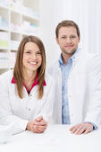 Successful pharmacy partnership — Stock Photo