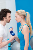 Par entrenar con pesas — Foto de Stock