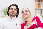 Smiling attractive couple — Stock Photo
