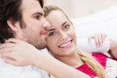 Woman with her husband — Stock Photo