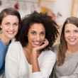 African American with two friends — Stock Photo #42487709