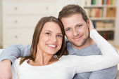 Affectionate loving young couple — Stock Photo