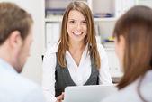 Confident friendly business adviser — Stock Photo