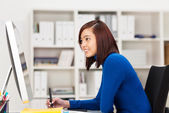 Stylish young Asian businesswoman — Stock Photo
