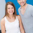 Smiling friendly fit young couple — Stock Photo #44129557