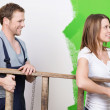 Couple doing home redecorating — Stock Photo #44129729