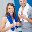 Couple at the gym — Stock Photo #44130695