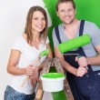Husband and wife doing DIY renovations — Stock Photo #44133027