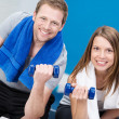 Couple working out together — Stock Photo #44139977