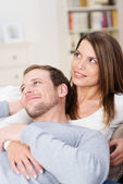 Couple relaxing together — Stock Photo