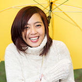Junge asiatische frau — Stockfoto