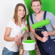 Husband and wife doing DIY renovations — Stock Photo #44140487