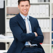 Self-assured successful young businessman — Stock Photo #45028107