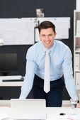 Confident friendly young businessman — Foto de Stock
