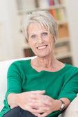 Portrait of an attractive senior woman — Stock Photo