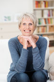 Beautiful trendy vivacious elderly woman — Stock Photo