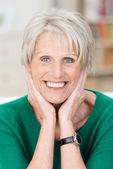Smiling happy attractive senior woman — Stock Photo