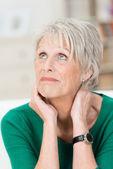 Worried upset senior woman — Stock Photo