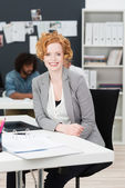 Beautiful vivacious young businesswoman — Stock Photo