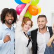 Happy group of business friends partying — Stock Photo #47240123