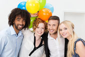 Partytime at the office — Stock Photo