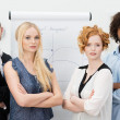 Serious young group of business men and women — Stock Photo #47882013