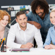 Diverse multiracial young business team — Stock Photo #47886529