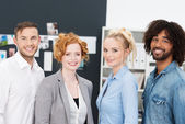 Success young multiethnic business team — Stock Photo