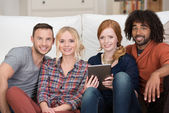 Group of diverse young multiethnic friends — Stock Photo