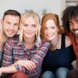 Four happy multiracial friends — Stock Photo #47969825