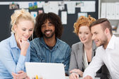 Young business team working together — Stock Photo