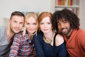 Group of young multiethnic friends — Stock Photo
