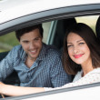 Woman taking her husband for drive — Stockfoto #48791105