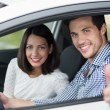 Male driver giving thumbs up — Stock Photo #48791621