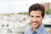 Friendly handsome young man — Stock Photo