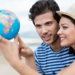 Couple planning their holiday — Stock Photo #49041391