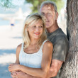 Mature couple pausing in shade of tree — Stock Photo #49470447