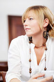 Young blond woman portrait — Stock Photo