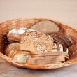 Breads displayed in bread basket — Stock Photo #50582869