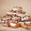 Various round breads — Stock Photo #50583321