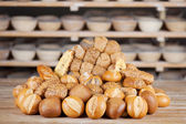 Arrangement of different breads — Stock Photo