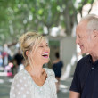 Couple enjoying laugh in street — Stock Photo #50971419