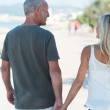 Man walking hand in hand with wife — Stock Photo #50972069