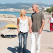 Middle-aged couple walking at coast — Stock Photo #50972119