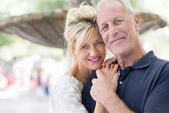 Attractive romantic middle-aged couple — Stock Photo
