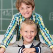 Two young friends in school — Stock Photo #51324233