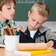 Little boys working together in class — Stock Photo #51324281