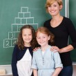 Two young girls with their teacher — Stock Photo #51325077