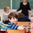 Cute little boy in class at school — ストック写真 #51325503